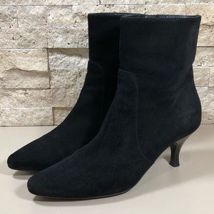 Aquatalia Boots Ankle Black Leather Suede 7.5